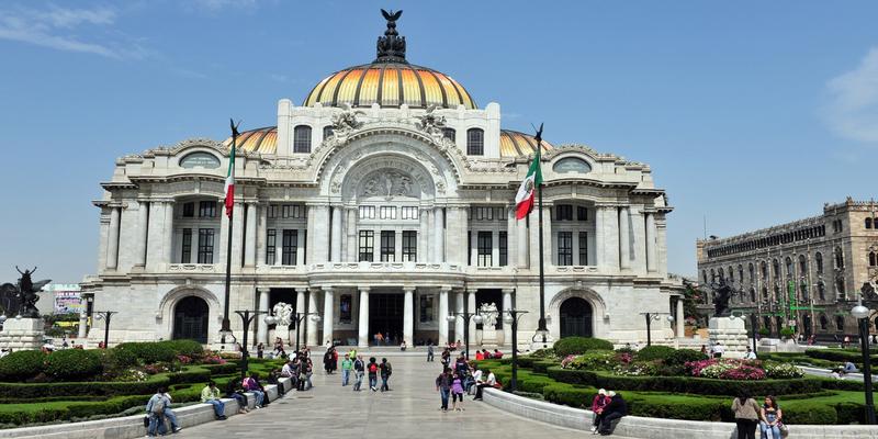 El Palacio de Bellas Artes - palacio de bellas artes de México d.f
